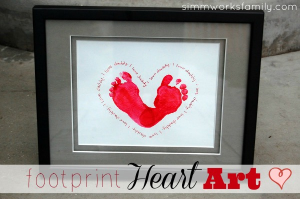 DIY Father's Day Gift Ideas - footprint I Love Daddy