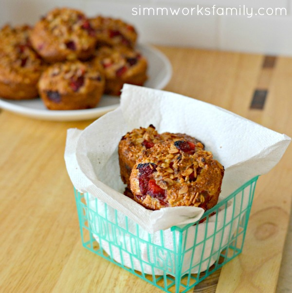 Strawberry Muffins with Greek Yogurt square 1