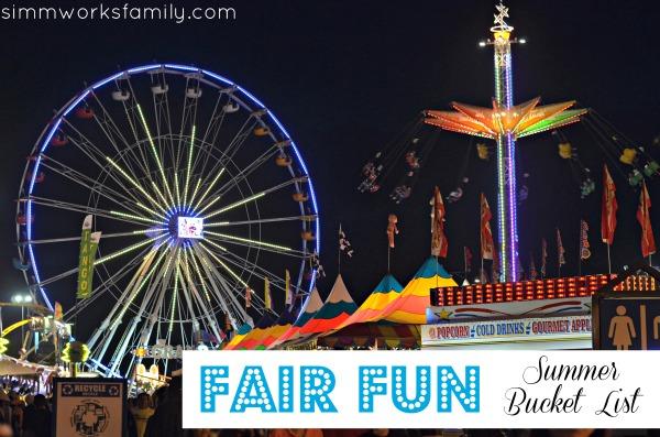 Summer Bucket List Fair Fun