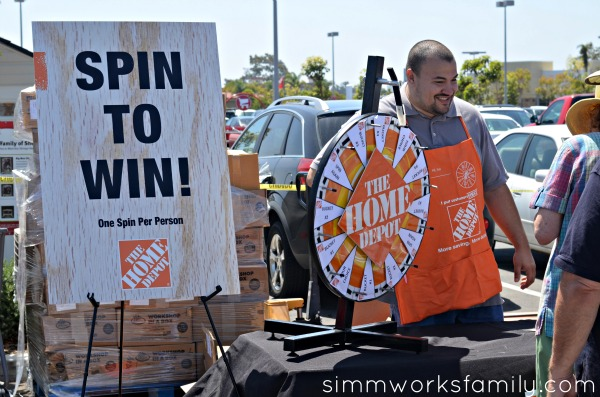 The Home Depot spin to win