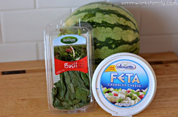 Watermelon Feta Salad ingredients