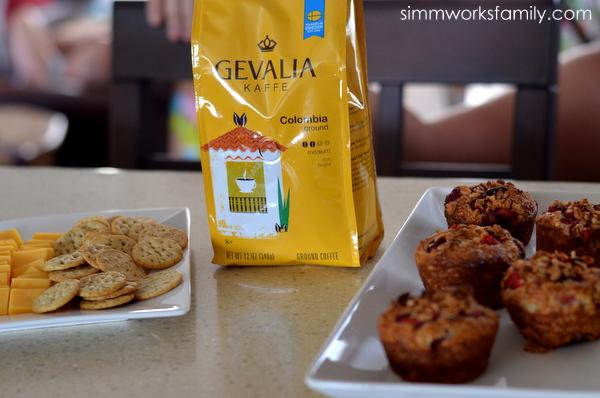 gevalia coffee food at book club