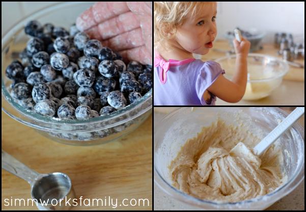 Blueberry Coffee Cake batter