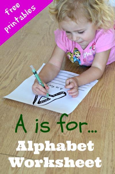 Free Alphabet Worksheet for Preschoolers