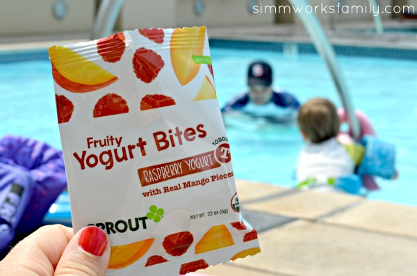 Healthy Snack Time with Sprout Organic Foods poolside
