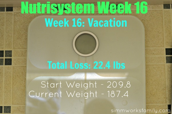 Nutrisystem Weigh In Week 16 nutrisystem on vacation