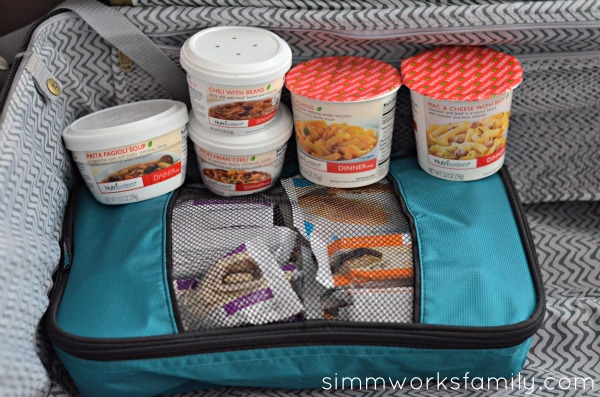 Nutrisystem on Vacation packed up