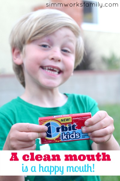 Orbit for Kids Gum happy mouth