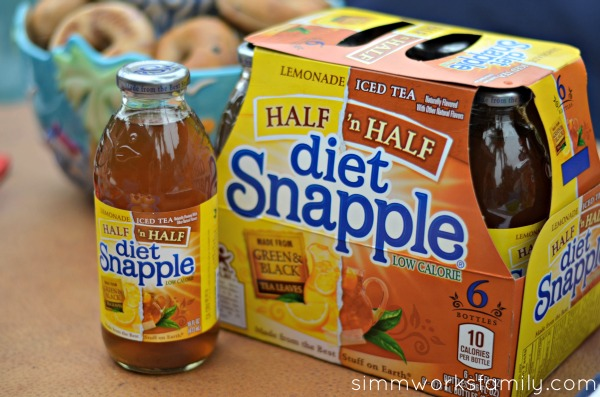 Pool Playdate with Snapple Half and Half close up