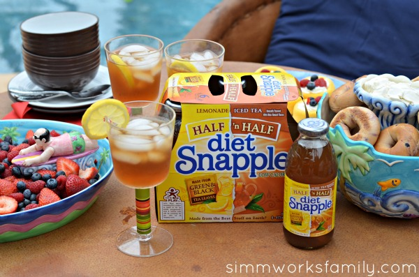 Pool Playdate with Snapple Half and Half in a cup