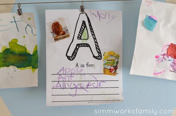 alphabet worksheet for preschoolers finished project