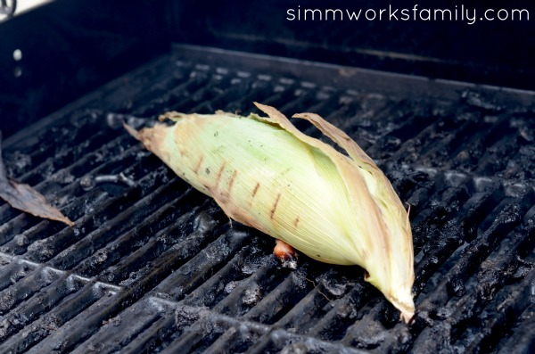 corn on the cob with herb butter - cooked on the barbecue