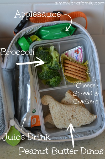 Back to School Lunch Ideas and Tips - peanut butter dinos
