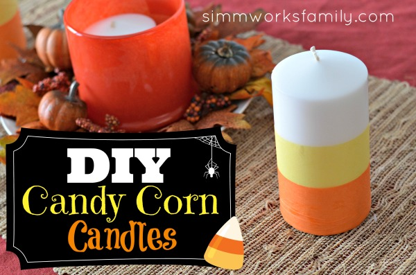 DIY Candy Corn Candles