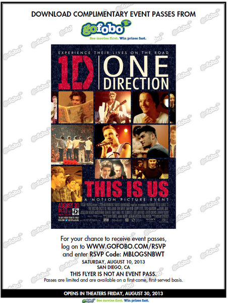 One Direction This Is Us San Diego Screening