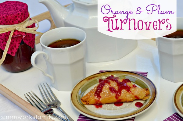 Orange and Plum Turnovers
