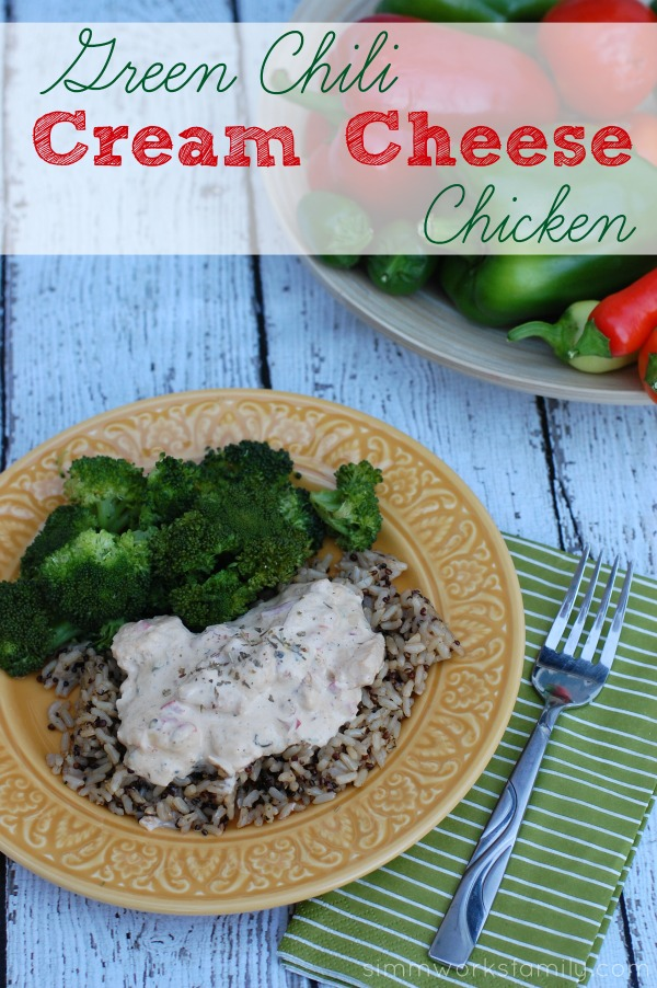 Green Chili Cream Cheese Chicken