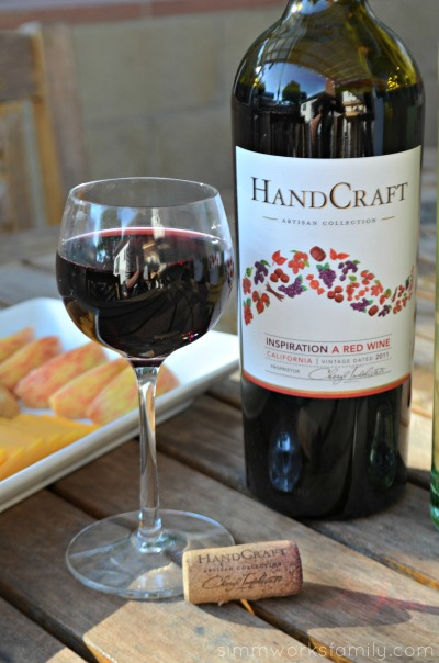 Handcraft Wines poured glass of red