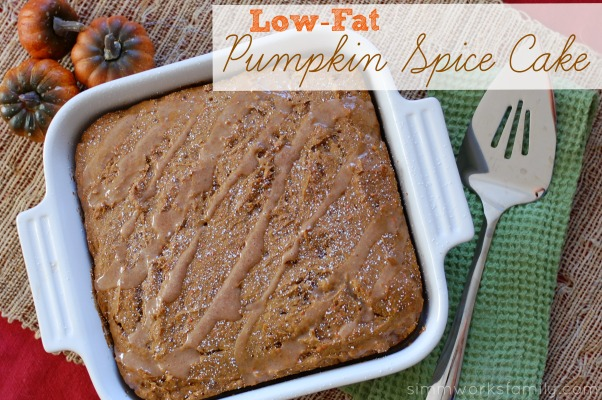 Low-Fat Pumpkin Spice Cake with Apple Cider Glaze