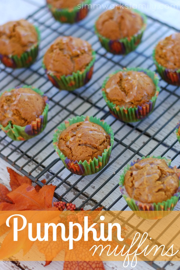 Pumpkin Muffins cooling rack