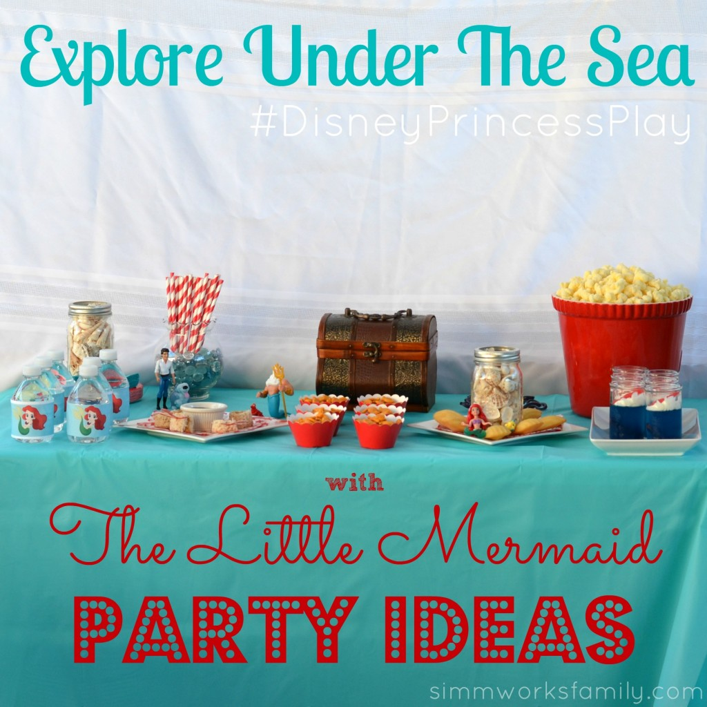 The Little Mermaid Party Ideas Instagram #DisneyPrincessPlay #shop