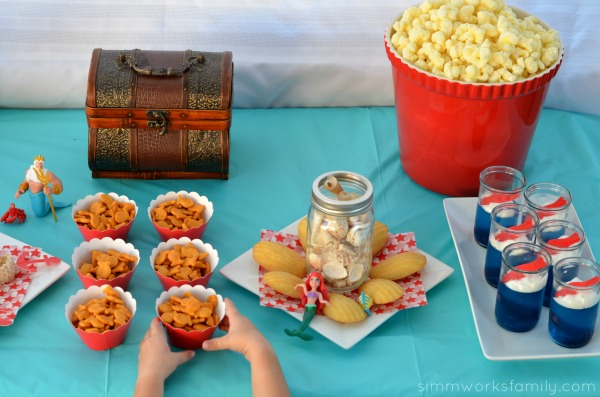 The Little Mermaid Party Ideas food and dessert #shop