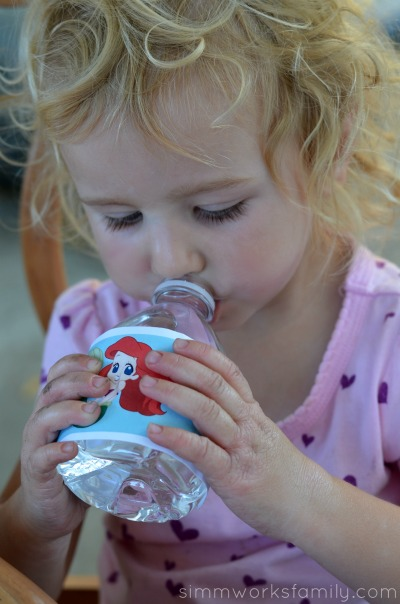 The Little Mermaid Party Ideas water bottle labels #shop