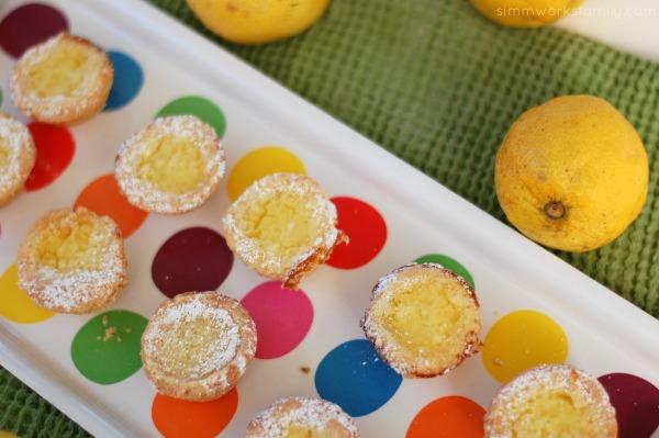 lemon tartlets close up