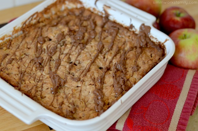 Candy Apple Dump Cake baked