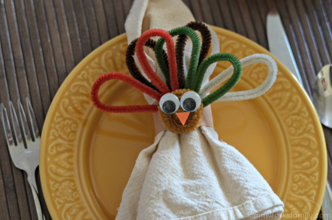 Turkey Napkin Rings close up