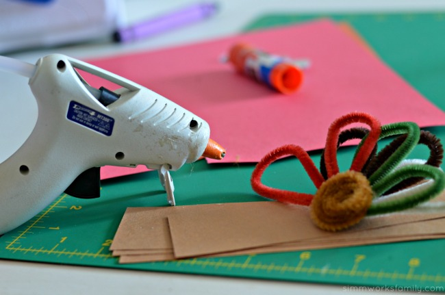 Turkey Napkin Rings glue gun