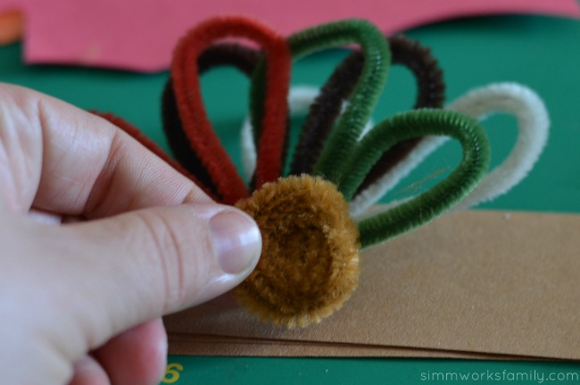 Turkey Napkin Rings pipe cleaner turkey head