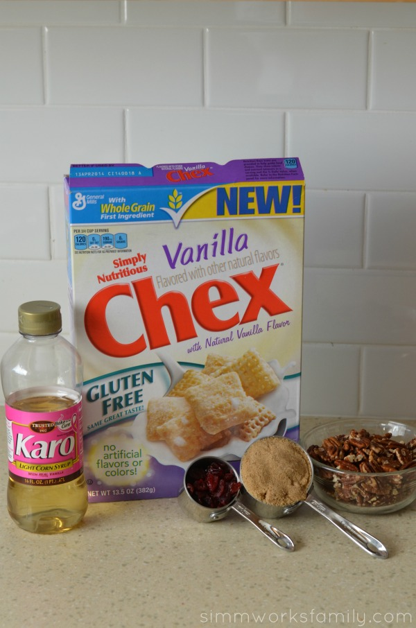 Vanilla Chex Cranberry Pecan Bars ingredients