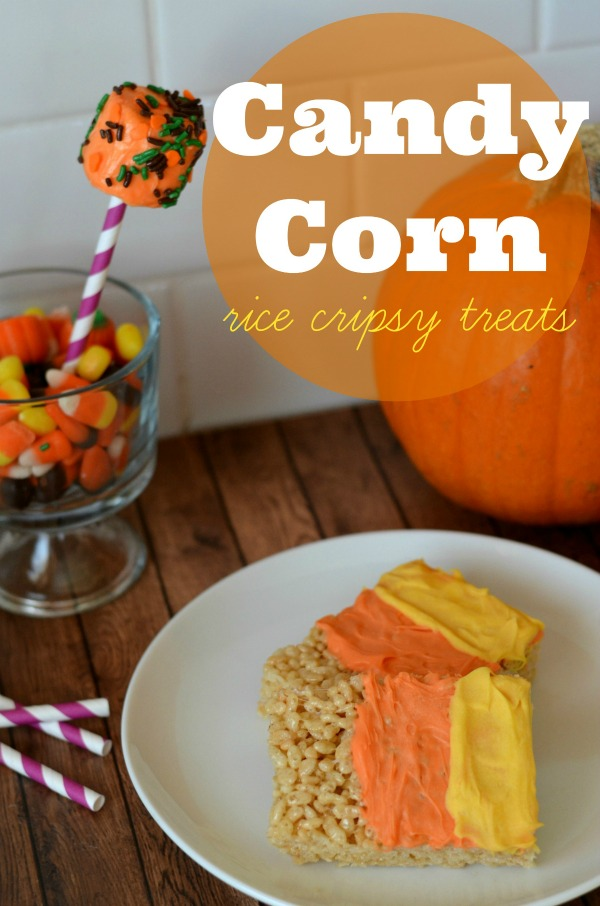candy corn rice crispy treats halloween