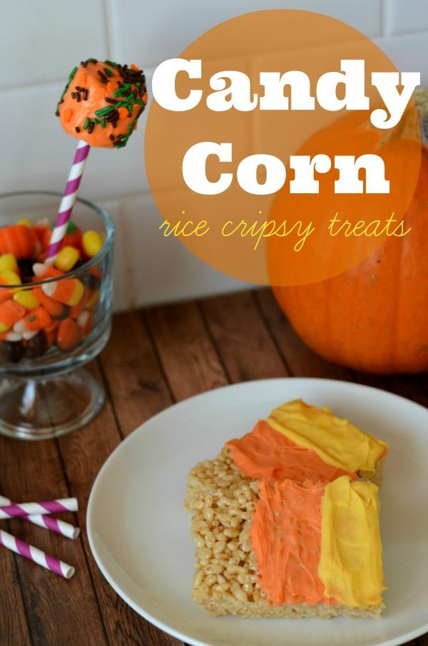 candy corn rice crispy treats halloween