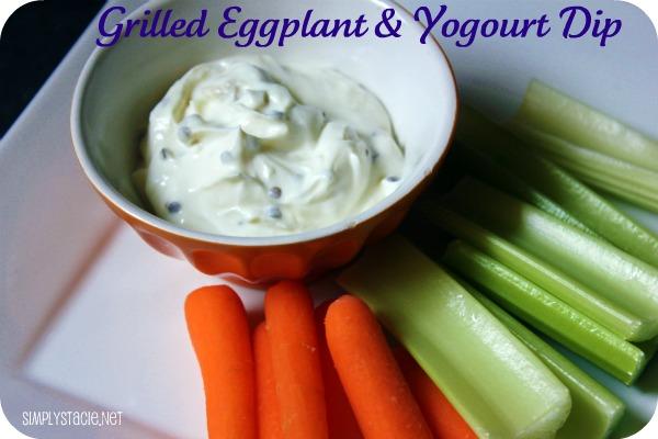 grilled eggplant yogurt dip simply stacie