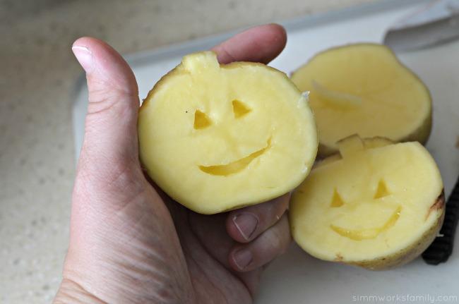 potato stamps cut out details