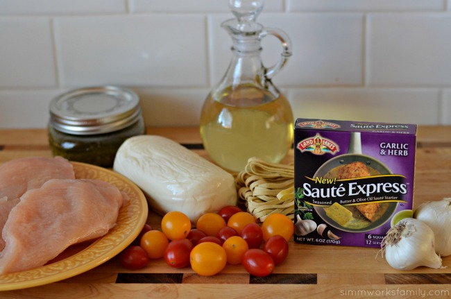 quick dinner recipes caprese salad pasta ingredients #shop #sauteexpress