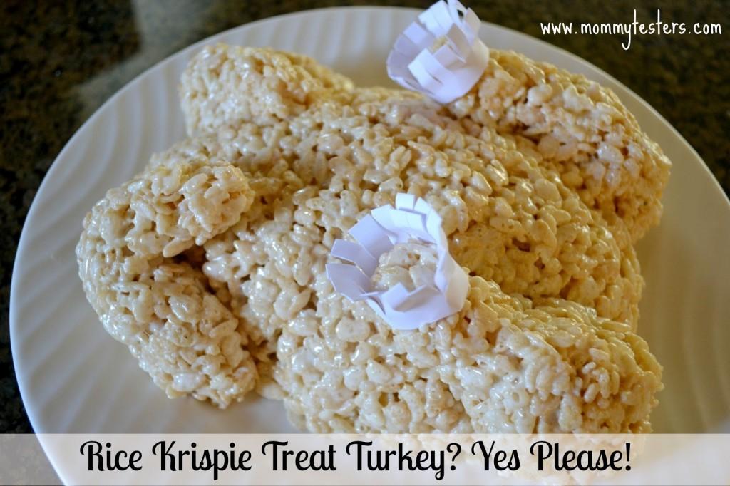 rice krispie treat turkey mommy testers