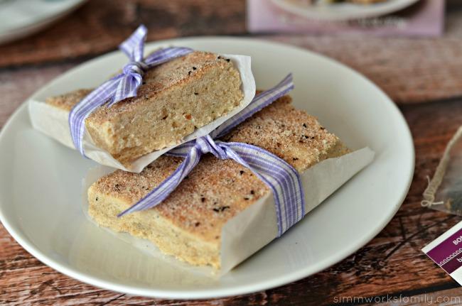 Bombay Chai Shortbread Cookie Recipe close up