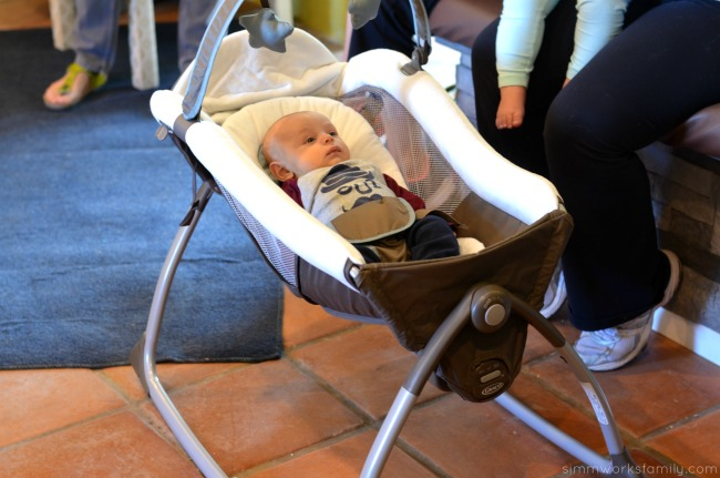 Graco Little Lounger in use