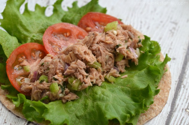Mediterranean Tuna Salad pinwheel wrap up close #shop
