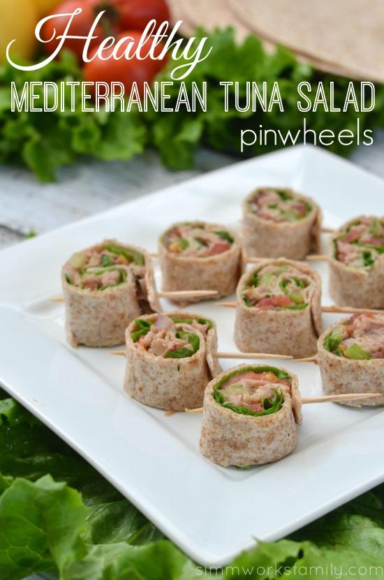 Mediterranean Tuna Salad pinwheels #shop