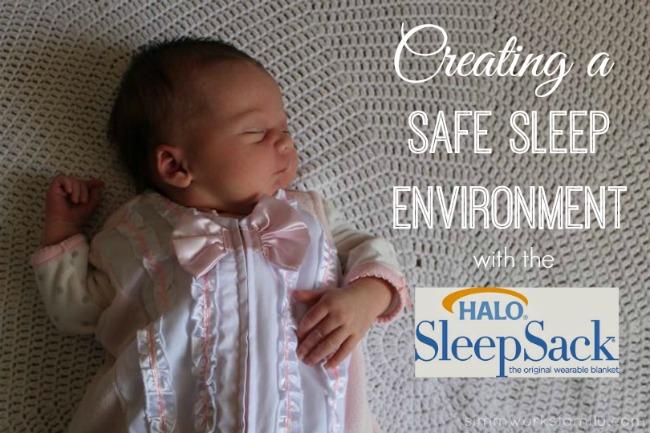 Safe Sleep Environment for Infants Halo SleepSack in Pink sleeping