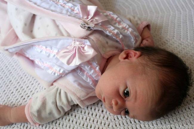 Safe Sleep Environment for Infants Halo SleepSack in Pink unzipped
