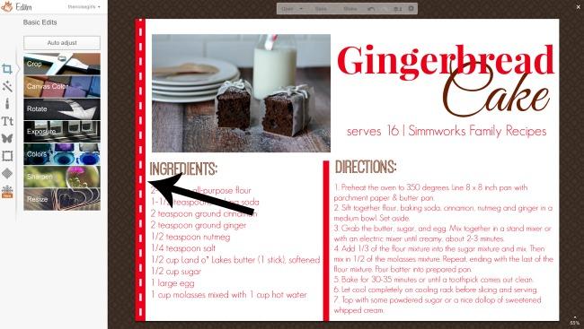 how to make a recipe card flourish