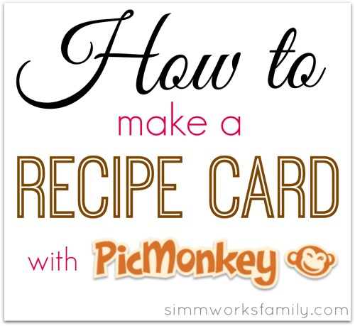 how to make a recipe card with picmonkey
