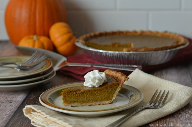 pumpkin pie with coconut milk close up