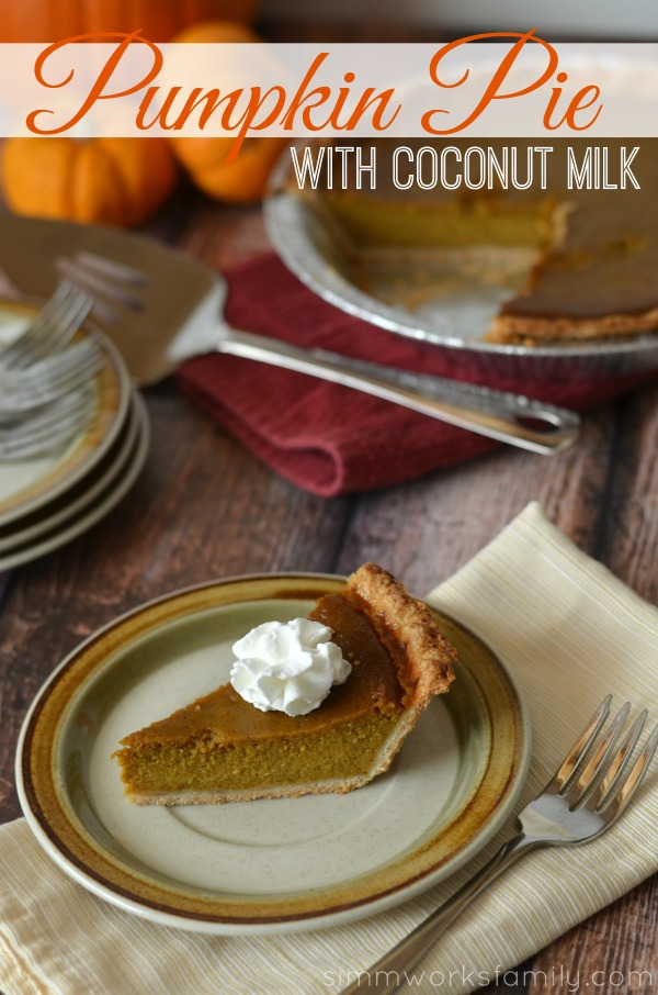 pumpkin pie with coconut milk, pumpkin pie made with coconut milk, dairy free pumpkin pie filling