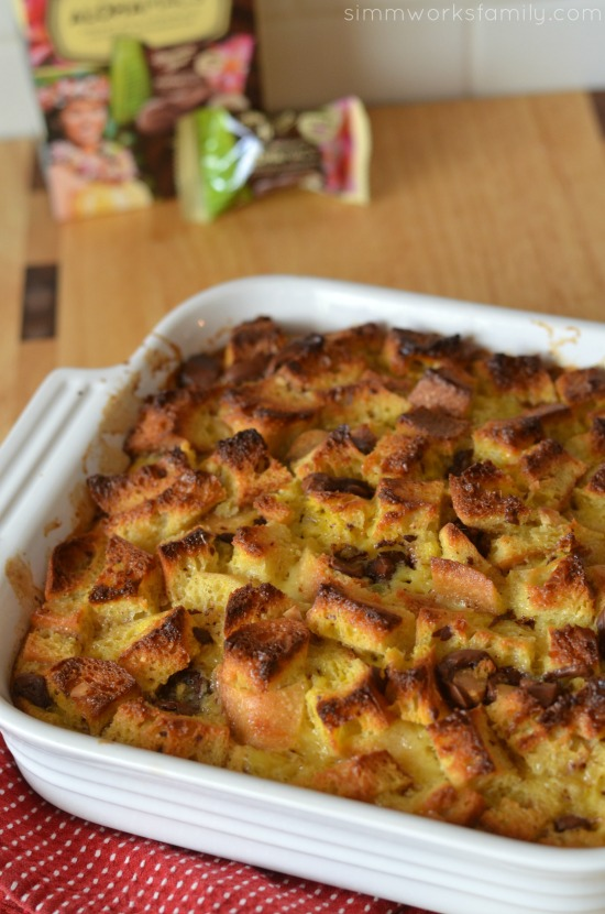 AlohaMac Bread Pudding With Caramel Sauce baked